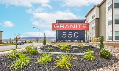 Community Signage, Granite 550, 2
