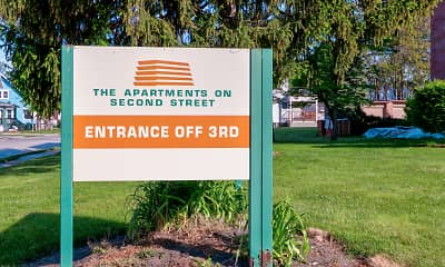 Community Signage, The Apartments on 2nd Street, 2