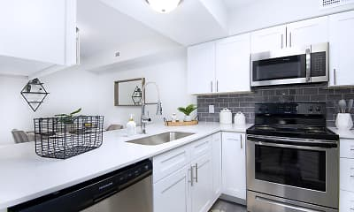 Kitchen, Riverbend Apartments, 0