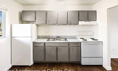 Kitchen, Metro Apartments at Granite City, 1