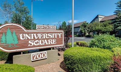 Community Signage, University Square Apartments, 1
