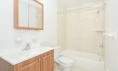 Bathroom, Hillcrest Apartments, 2