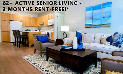 Living Room, Legends at Berry 62+ Apartments, 0