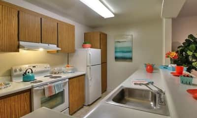 Kitchen, Old County Road Apartments, 1