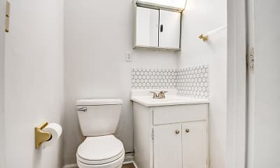 Bathroom, Anna Laura Apartments, 2