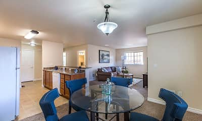 Dining Room, Quail Springs Apartments, 2
