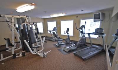 Fitness Weight Room, Pine Ridge Apartments, 2