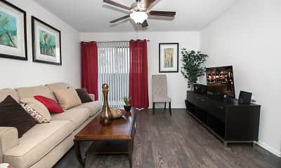 Living Room, Sandstone Apartments, 1