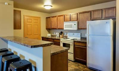 Kitchen, Tioga Square Apartments, 0