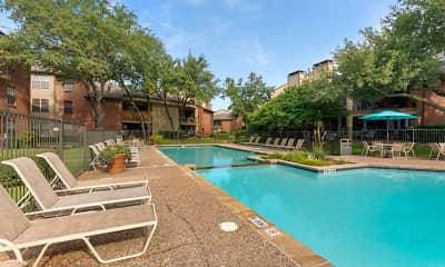 Pool, Springfield Apartments, 1