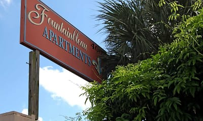 Community Signage, Fountainbleau Apartments, 2
