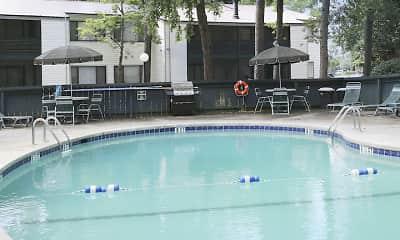 Pool, Thickett Apartments, 2