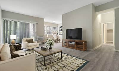 Living Room, Woods Edge Apartment Homes, 0