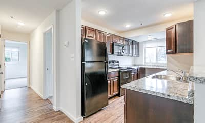 Kitchen, Woodside Apartments, 1