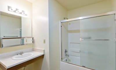 Bathroom, Spruce Pointe Apartments, 2