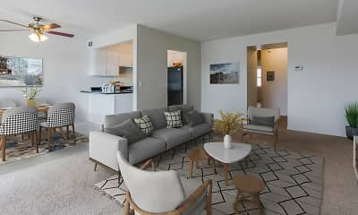 Living Room, Lake Forest Apartments, 1