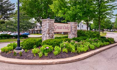 Community Signage, Great Oaks Apartments, 0