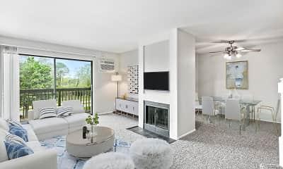 Living Room, Lakeside Apartments, 1