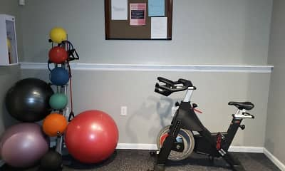 Fitness Weight Room, Lakeview Court Apartments, 1