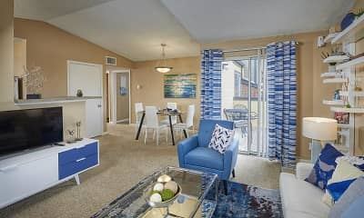 Living Room, Loretto Heights Apartments, 2