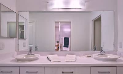Bathroom, Aldingbrooke Apartments and Townhomes, 2