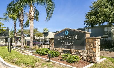 Community Signage, Creekside Villas at Clear Lake, 0