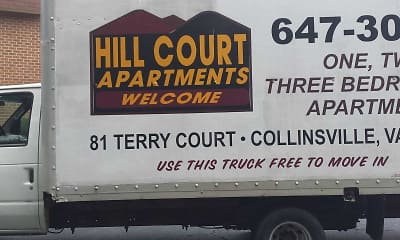 Community Signage, Hill Court Apartments, 2