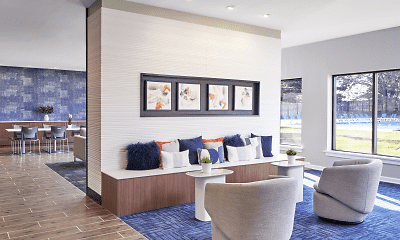 Living Room, Village Square Apartments, 2
