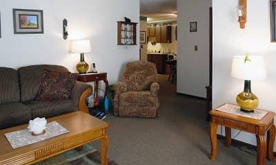 Living Room, Julia Manor Apartments, 1