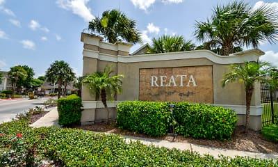 Community Signage, Reata Apartments, 2