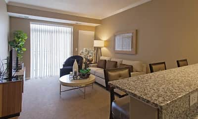 Living Room, The Flats at Cedar Grove Apartments, 1