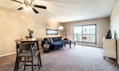 Living Room, Plaza Apartments, 0