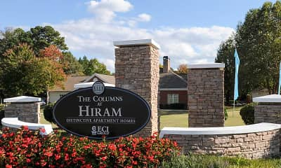 Community Signage, The Columns At Hiram, 2