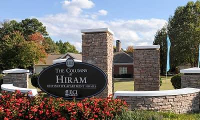 Community Signage, The Columns At Hiram, 2