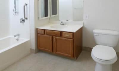 Bathroom, Medford Apartments- Senior Living, 2