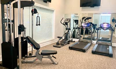 Fitness Weight Room, Lagniappe of Biloxi Apartment Homes, 2