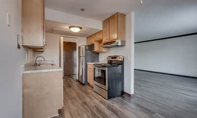 Kitchen, Shelard Village Apartments, 1