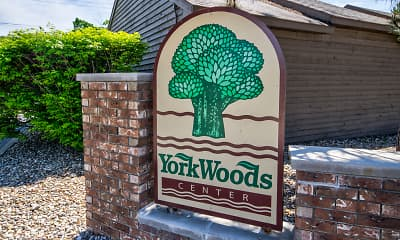 Community Signage, York Woods Center, 2