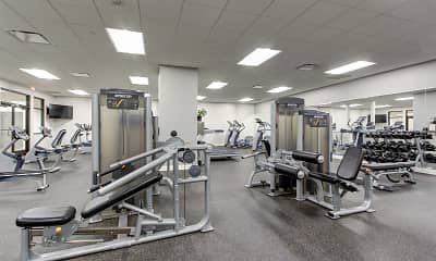 Fitness Weight Room, Residences at Leader, 2