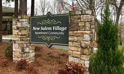 Community Signage, New Salem Village, 2