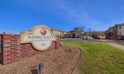 Community Signage, Midway Station, 2