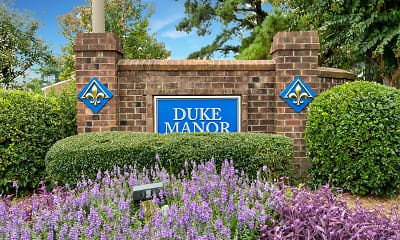 Community Signage, Duke Manor, 2