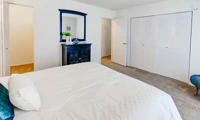 Bedroom, The Lodge Apartments, 1