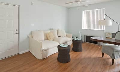 Living Room, La Vue At Emerald Pointe, 1