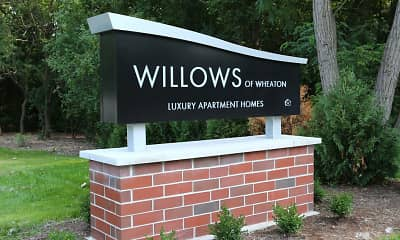 Community Signage, Willows of Wheaton Apartments, 1