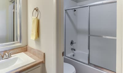 Bathroom, Del Coronado Apartments, 2