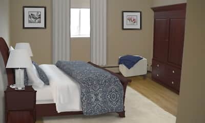 Bedroom, Homer Avenue Apartments, 1
