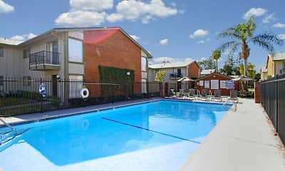 Pool, Tustin Village Apartments, 0