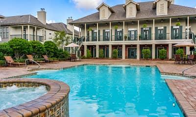 Pool, Chenier Apartments, 0