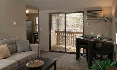 Living Room, Ridgefield Apartments, 1